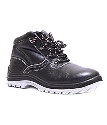 Hillson Alien-6-BLK Alien Hi-Ankle Safety Shoe, Size-6 UK, Black