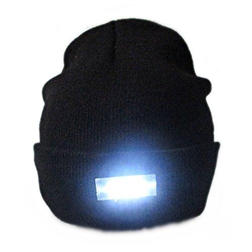 MISITE 5 LED-Taschenlampe behalten warme helle Beanie-Hut-Kappe für das Laufen, die Jagd, das Kampieren, das Grillen (Indiana Jones Mädchen Kostüm)