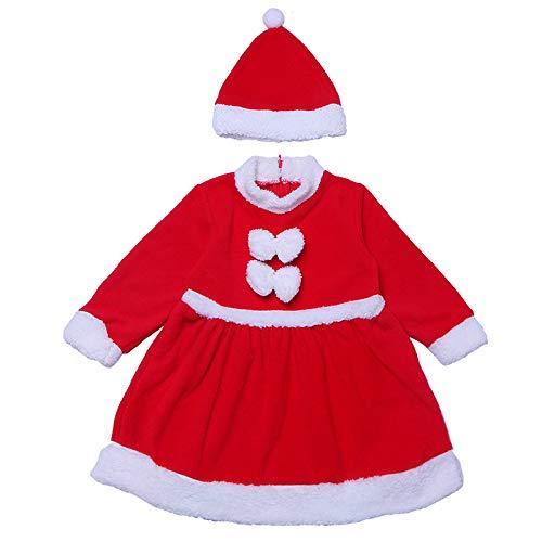 Unbekannt Weihnachts Baby-Kleidung, Weihnachtsanzug, Weihnachts-Baby-Kleid, Kleinkind Anzug, Weihnachts-Weihnachtsmann-Kostüm, Weihnachts Kostüm (Baby Weihnachtsmann Anzug)