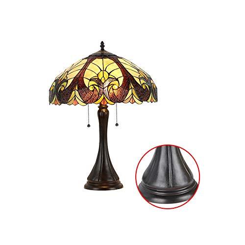KKCF Buntes Glas 16 Zoll Tiffany-Art-Lampen-Tabellen-Beleuchtungs-Schreibtisch Beleuchtet...