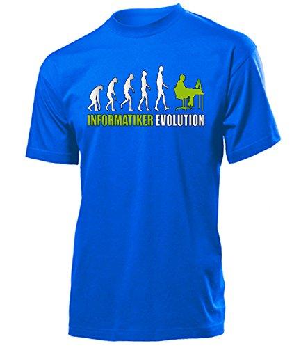 Informatiker Evolution 4602 Herren T-Shirt (H-B-Weiss-Grün) Gr. L
