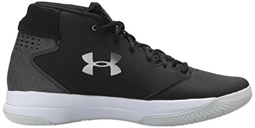 Under Armour UA Jet Mid, Chaussures de Basketball Homme Noir (Black)