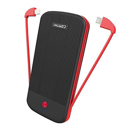 Yuede PowerCore,Energien-Bank,10000mah externesTragbares Ladegerät-dünnes Licht-Universal mit Mikro-USB-Kabel eingebaut, für iPhoneX/8/7/6/5,iPad,Samsung,Huawei.