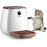 Houzetek Comedero Automático Gatos/Perros dispensador de Comida para Perros,con Cámara HD de 1080p, WiFi con App Control Recordatorio,Visión Nocturna