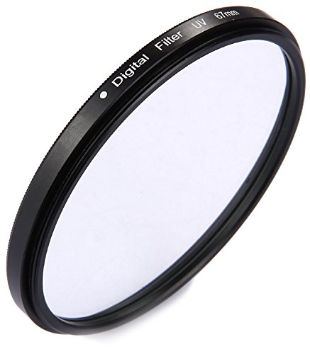 Movoja® [ 67mm UV-Filter | UV-Sperrfilter | UV-Schutzfilter | Lotuseffekt | Ultra-Slim Filter | 16fach beschichteter Spezialfilter |