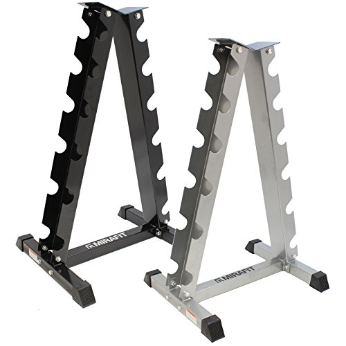 Mirafit Vertical Dumbbell Weight Rack - Black or Silver