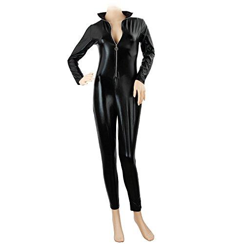 Discoball Damen Catwoman Katzenkostüm Größe XXL (Erwachsenen Schwarzen Catsuit Kostüme)