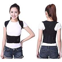 Corrector de postura de la espalda para mujeres y hombres Hombro ajustable  Espina de apoyo Cinturón Soporte para la clavícula Corrección de la espalda  Parte ... 6d55ee98769d