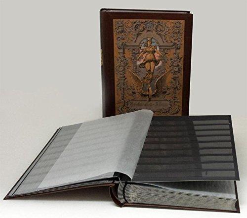 Francobolli album nostalgici, 60 pagine, interno nero