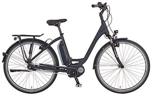 Stratos E-Bike Alu-City Damen 28 Zoll Boschmotor mit Rücktritt schwarz matt Elektrofahrrad, RH 50cm
