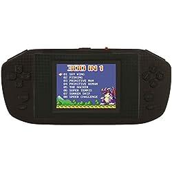 """Lexibook JL3000 Power Cyber Arcade, Console de Jeux Portable, 300 Jeux, Écran Couleur LCD 2,8"""", Noir."""