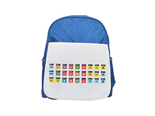 Just a bunch of symbols icons and computer architecture components. printed kid's blue backpack, Cute backpacks, cute small backpacks, cute black backpack, cool black backpack, fashion backpacks, larg (Rucksack Symbol Computer)