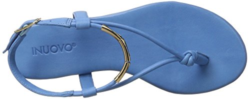 Inuovo 7164, Tongs Femme Bleu jean
