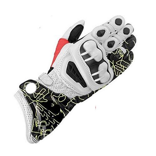 Mdsfe Nuovi guanti lunghi da moto Guanti in pelle da moto per fuoristrada da corsa 2019 L