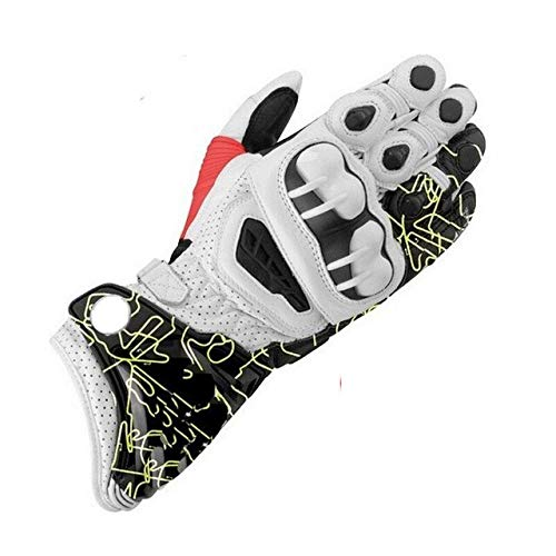 IAMZHL Nuovi guanti lunghi da moto Guanti in pelle da moto per fuoristrada da corsa 2019 M