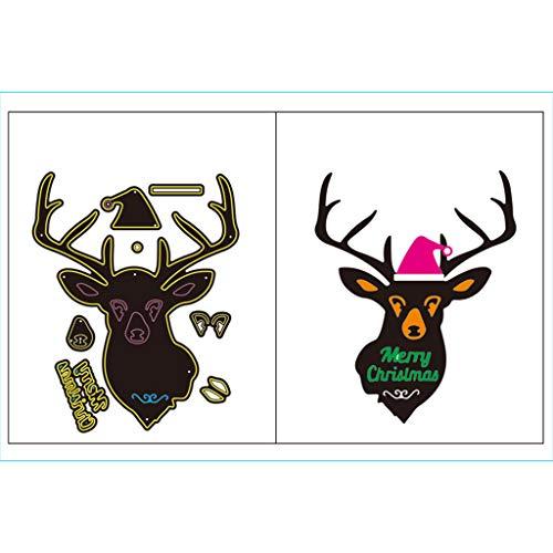 Xurgm 2 fustelle a forma di cervo, per scrapbooking, per decorazioni natalizie, in metallo