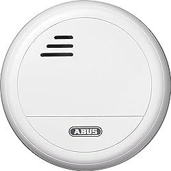 ABUS Rauchwarnmelder RM10, 51024, große Prüftaste, erfasst bis zu 40 m²