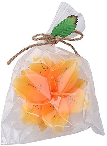 Wunderschöne TIKI STYLE Blüten Schwimmkerze in Verpackung