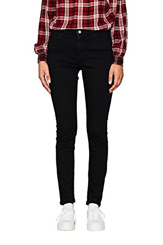 edc by ESPRIT Damen Skinny Jeans 997CC1B816, Schwarz (Black Rinse 910), W28/L32