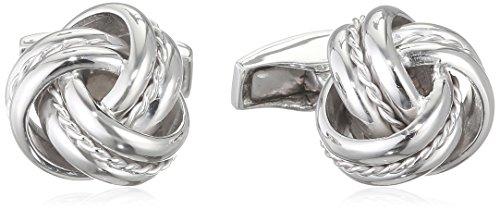 Tateossian Manschettenknöpfe Kabel Knoten Silber