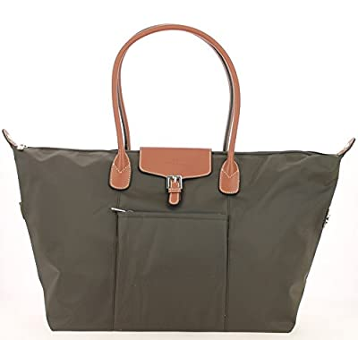 Grand sac shopping Hexagona-Marron Foncé
