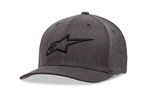 Alpinestars Herren Ageless Curve Men's Logo Flexfit Hat Curved Bill Flex Back Cap, grau, L/XL -
