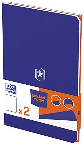 OXFORD 400077741 Notizheft Pocket Notes Duo-Pack 2 Stück 9x14 cm 48 linierte Seiten orange und royalblau - für individuelle Notizen Skizzenbuch Taschenbuch Reisebuch Notizblock Notebook Travel Diary (Travel Duo Pack)