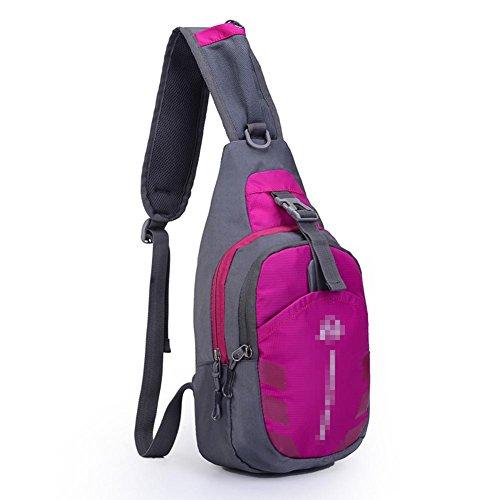 MäNner Und Frauen Wasserdichte Nylon Brust Tasche Outdoor Sport Freizeit Beutel GeldböRse Purple