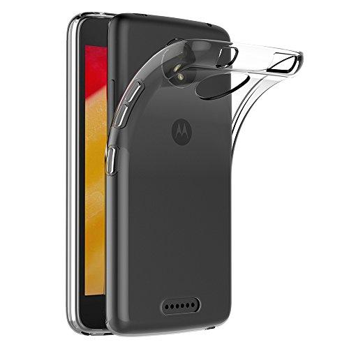 Motorola Moto C Plus Hülle, AICEK Transparent Silikon Schutzhülle für Moto C Plus Case Crystal Clear Durchsichtige TPU Bumper Lenovo Moto C Plus Handyhülle