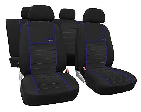 Dimensions gefertigter Housse de siège auto pour Ford Focus C-Max 2003–2011, la meilleure qualité au design Housses Trend Line (Disponible en 6couleurs).