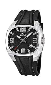 Reloj analógico Lotus 15759/6 de cuarzo para hombre con correa de piel, color negro