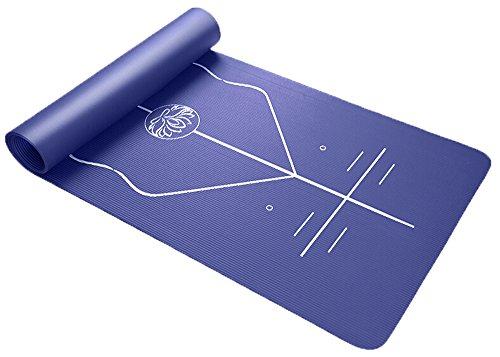 ion Fitness Matte–g-like 10mm Stärke hochdichte Polsterung rutschfeste reißfestem Eco Friendly NBR Bewegung Pad gut für Gym Home üben Training mit Position Richtschnur, blau (Gute Qualität Halloween-kostüme Uk)