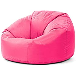 Bean Bag Bazaar® chaise pouf poire lambrissée XL pour l'intérieur/l'extérieur ROSE- pouf poire grand
