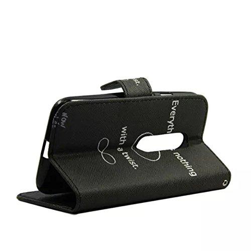 Sunroyal Leder Hülle im Bookstyle Handyhülle für Motorola Moto G 3. Generation 12.7cm 5 Zoll Bunt Wallet Case Style mit Karten-Fächern - 2