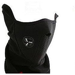 DTOL Tour de cou et demi-masque en néoprène chaud Pour faire du sport en hiver Pour vélo, moto, ski, snowboard - Noir 1 pack Noir
