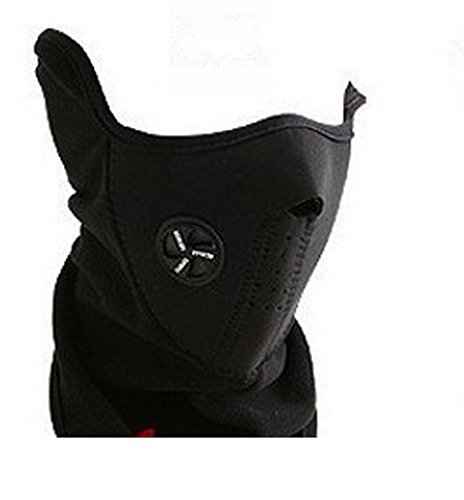 DTOL Neoprene Neck Warm Half Face Mask Winter Veil For Sport Bike Bicycle Motorcycle Ski Snowboard Color Black