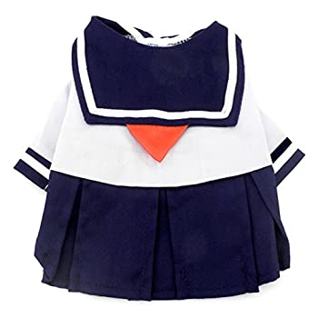 Smalllee _ Lucky _ Ranger Bleu marine Captain Costume de marin Chien Robe style frais uniforme de l'étudiant, Bleu, XL