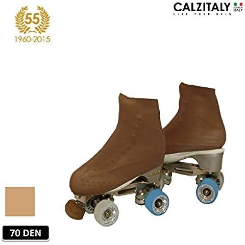 CUBREPATIN PARA MUJER | FUNDA PATIN / SKATE | PROFESSIONAL SKATING | NATURAL | 70 DEN | S, M, L | CALCETERÍA ITALIANA