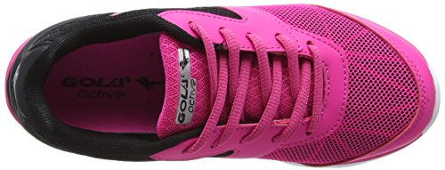 Gola Geno, Chaussures Multisport Outdoor Fille Rose (Pink/black/silver)