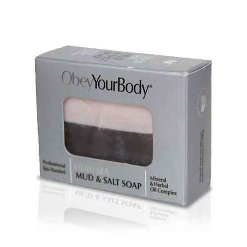 Obeyyourbody Mud & Salt Soap | Seife - Mineralschlamm mit Meersalz 2 x 100 g - Mineral Care Schlamm