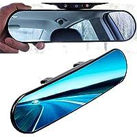 Kentop Panorama Espejo retrovisor Interior Auto Universal Anti Blend Espejo retrovisor Redondo con Ajuste de ángulo