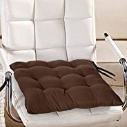 Kuber Industries Cotton Decorative Fabric Chairpad, Back Support, Seat Cushion With Ties And Handmade Quilting