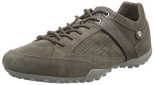 Geox Uomo Snake E, Sneakers basses homme Grey - Grau (DOVE GREYC1018)