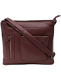 Women's Genuine Leather Sling Bag-Women's Casual College, Office Bag-Women's Cross Body Sling Bag By Calfnero