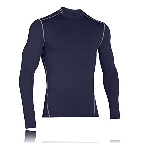 Under Armour UA CG Armour Mock Camiseta de Manga Larga, Hombre, Azul (410), L