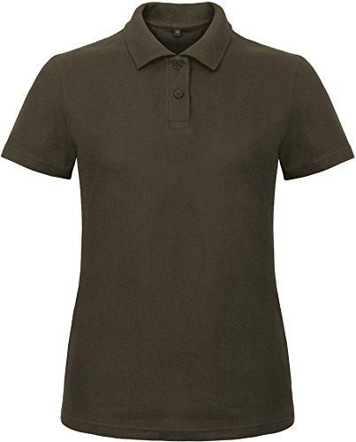 B&C: Ladies` Piqué Polo Shirt ID.001 Women PWI11, Größe:L;Farbe:Brown (Braun-piqué-polo-shirt)