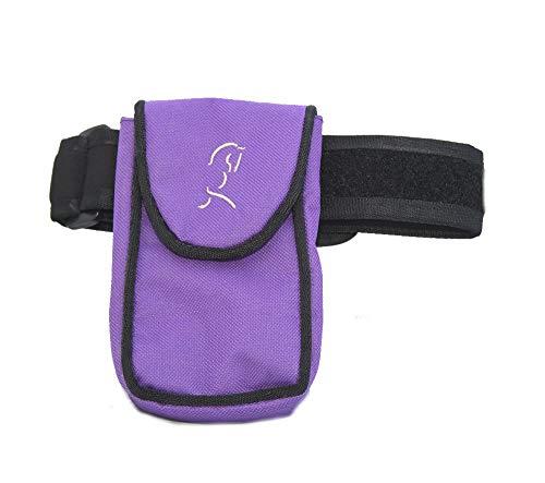 Medium/Large auf das Bein Handy/Smartphone Halterung für das Bein/Kalb-Bein Band für Equestrian, Jogger, Wanderer oder Motorrad-(schwarz) (lila) (Dog Leg Bands)