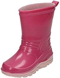 Girls Spot On Pull On Wellington Boots