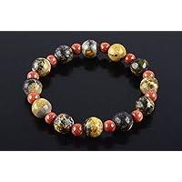 Boviswert Armband,100% Echte Edelsteine, Turkis Gelb 10mm und Goldfluss Perlen 6mm. preisvergleich bei billige-tabletten.eu