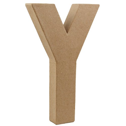 country-love-crafts-825-inch-205cm-3d-letter-y-papier-mache